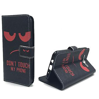 Mobile phone case pouch for mobile Samsung Galaxy J5 dont touch my phone Red