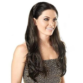 Natural Half Wig with Plaited Hairband - Long Wave