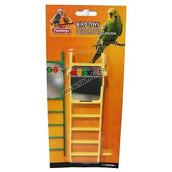 Flamingo Ladder with mirror 6 x 20 cm. (Birds , Bird Cage Accessories , Perches & Posts)