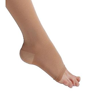 Pebble UK Weit Toeless Calf Compression Socks [Style P201W] Beige XXXL