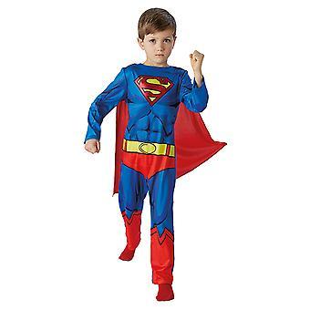 Traje de niño clásico de cómic Superman set original
