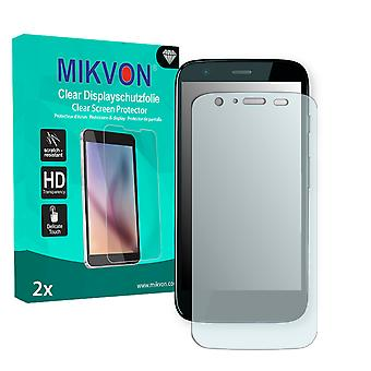 Motorola MOTO G Dual Screen Protector - Mikvon Clear (Retail Package with accessories)