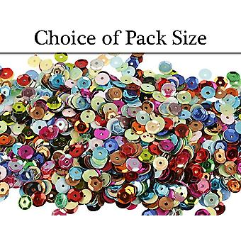 6mm Assorted Round Cup Sequins - Choice of Pack Size