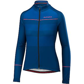 Altura Blue-Blue 2018 Airstream Womens Long Sleeved Cycling Jersey