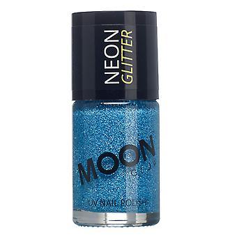 Moon Glow - 14ml Neon UV Glitter Nail Varnish - Blue