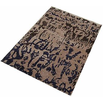 Hand Tufted Silk Rugs(black And Brown)