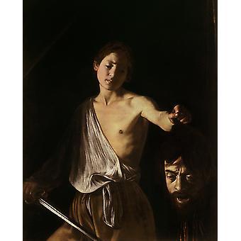 David with the Head of Goliath,Caravaggio,50x40cm
