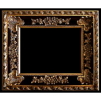 Wooden frame in gold, the interior dimensions 60x90 cm