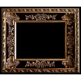 Treramme i gull, indre dimensjoner 60 x 90 cm