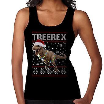 Christmas TreeRex Christmas Dinosaur Women's Vest