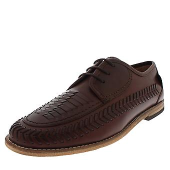 Mens H By Hudson Anfa Calf Leather Office Cognac Smart Loafer Work Shoes