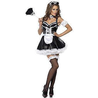 Fever Flirty French Maid Costume, UK Dress 12-14
