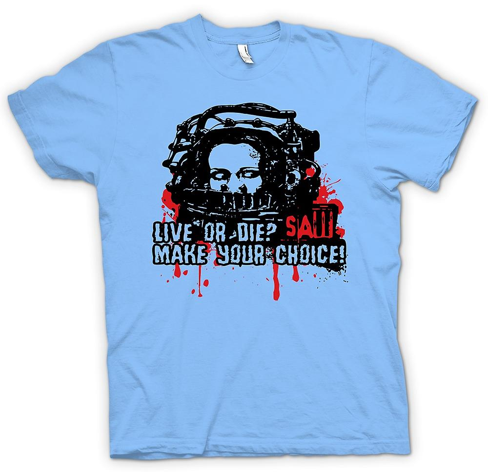 Mens T-shirt - Saw Live Or Die - Horror - Movie