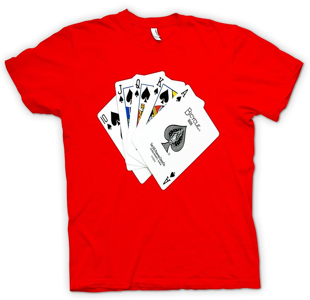 Heren T-shirt-Poker Royal Flush