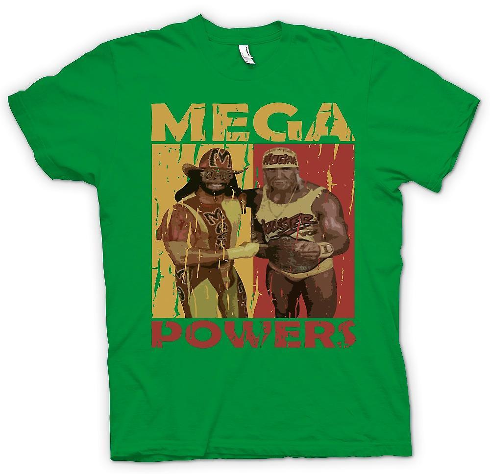 Mens t-shirt-Mega poteri Wrestling classico