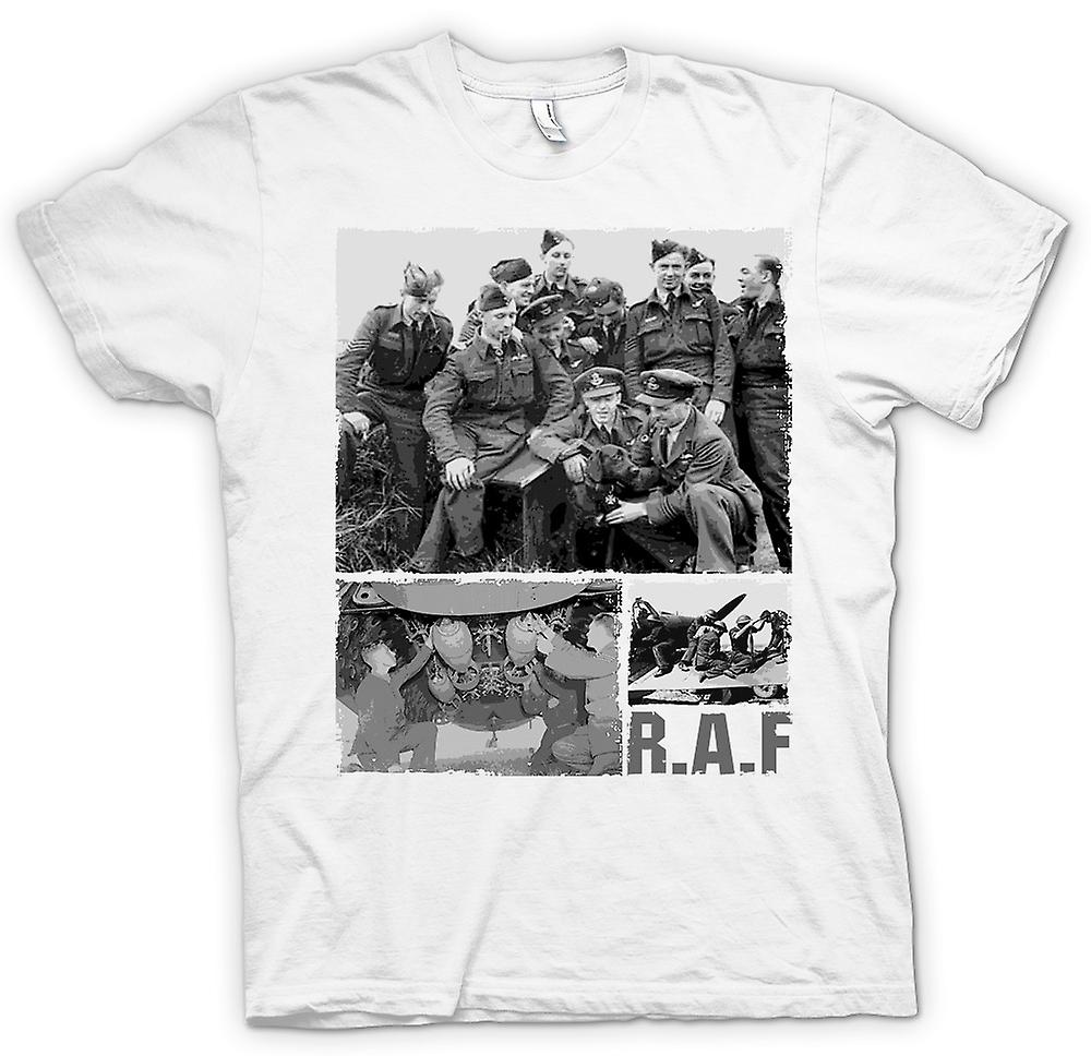 Herr T-shirt-R.A.F Royal Airforce - World War 2