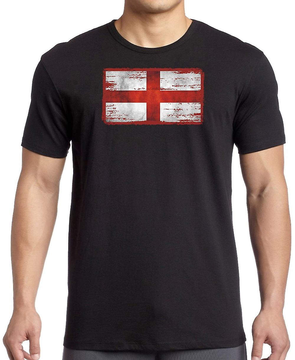 England Grunge Flag Kids T Shirt
