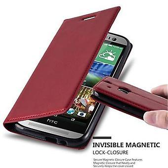 Caso Cadorabo para HTC um M8 (2.Generation) - caso de telefone celular com fecho magnético, função do carrinho e titular do cartão - saco de bolsa capa case luva para reservar Klapp estilo