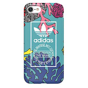 Adidas originals casos TPU Funda para Apple iPhone 7 protectora caso colorido coral gráfico