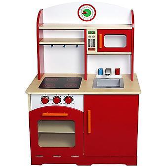 Cuisine dinette cuisinière en bois pour enfant jeux jouet moderne 0101008