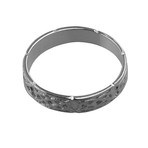 Silver 4mm Celtic Wedding Ring Size Z