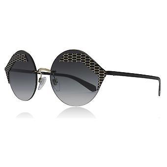 Bvlgari BV6089 20288G mat sort/bleg guld BV6089 runde solbriller linse kategori 3 størrelse 55mm