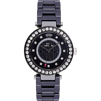 Juicy Couture 1901260 Luxe Couture Ladies' Classic Black Ceramic Stone Set Watch