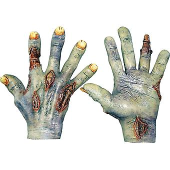 Zombie Undead Latex Hands For Adults