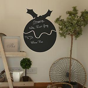 Christmas Pudding Chalkboard Sticker