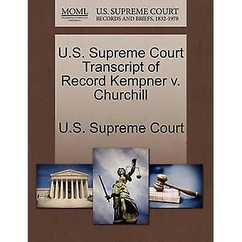 E.U. Supremo Tribunal transcrição do registro Kempner v. Churchill pela Suprema Corte dos EUA