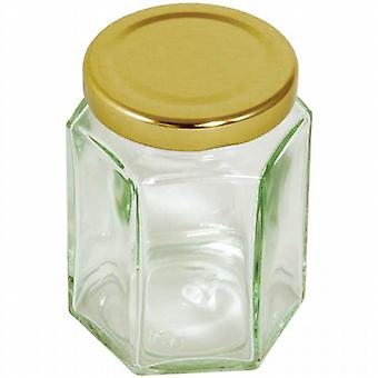 Sexkantiga bevara Jar - 228 ml/8 oz
