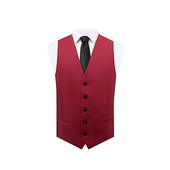 Dobell Mens panciotto rosso Regular Fit