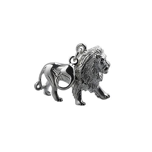 Silver 15x20mm Lion Charm on a lobster trigger