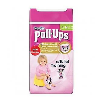Huggies Day Time Pull Ups Medium Girl 14