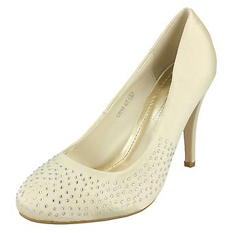 Ladies Anne Michelle Diamante Court Shoes L2242