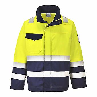 Portwest - MODAFLAME-Vis chaqueta amarillo/azul marino XL