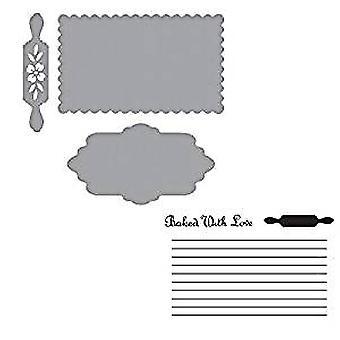 Spellbinders Recipe Card Set Cutting Dies and Stamps (SDS-159)