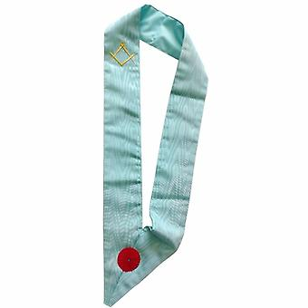 Master Mason French Rite Sash with Rosette - Sky Blue
