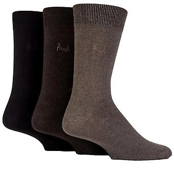 Antonio Pringle Socks 3 Pack marrone