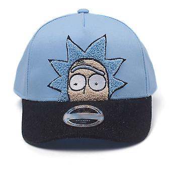 Rick and Morty Cap Rick Chenille 2D Embroidery Curved Bill - Blue (BA513854RMT)