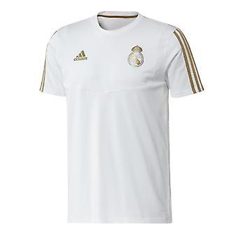 2019-2020 Real Madrid Adidas Training Tee (White)