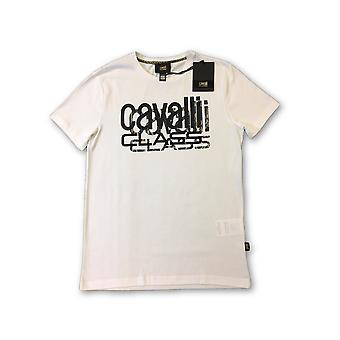Cavalli Class T-Shirt in white with brand chest logo