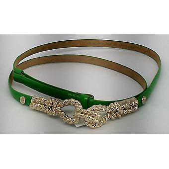 Isaac Mizrahi Live! Thin Faux Leather Embellished Green Belt New