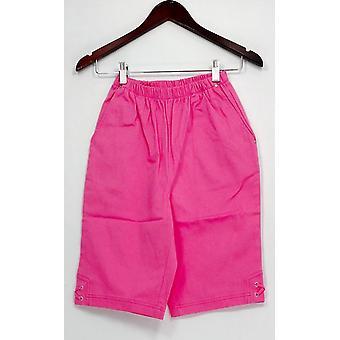 Denim & Co. Shorts Classic Waist Side Lace-Up Bermuda Pink A233552