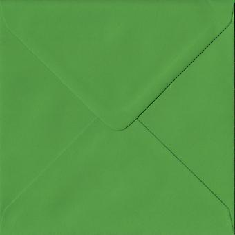 Fern Green Gummed 130mm Square Coloured Green Envelopes. 100gsm FSC Sustainable Paper. 130mm x 130mm. Banker Style Envelope.