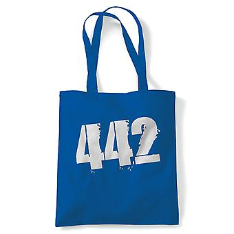442 Football Tote | Football Footy Kick About Around Match Game Ball | Reusable Shopping Cotton Canvas Long Handled Natural Shopper Eco-Friendly Fashion