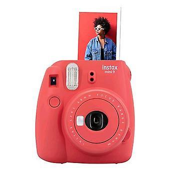 Fujifilm instax mini 9 camera instant mirror development for selfie close-up lens   poppi red