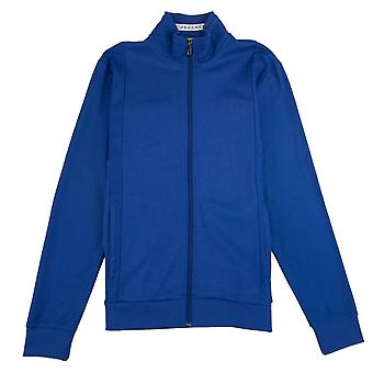 Hugo Boss Hugo Boss Full Zip Funnel Neck Cardigan Royal Blue