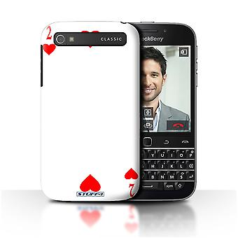 STUFF4 Case/Cover for Blackberry Classic/Q20/2 of Hearts/Playing Cards