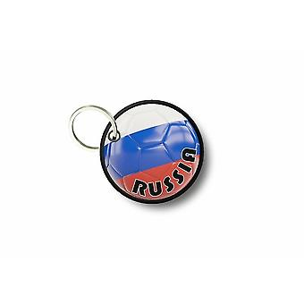 Porte Cle Cles Clef Brode Patch Ecusson Drapeau Ballon Foot Russie